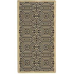 Safavieh Indoor/ Outdoor Matrix Sand/ Black Rug (2'7 x 5')