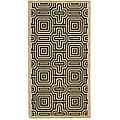 Safavieh Indoor/ Outdoor Matrix Sand/ Black Rug (2'7 x 5')
