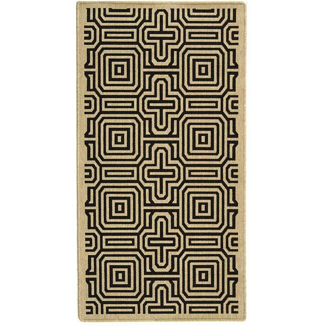 Safavieh Indoor/ Outdoor Matrix Sand/ Black Rug (4' x 5'7) at Sears.com