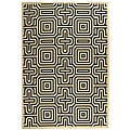 Indoor/ Outdoor Matrix Sand/ Black Rug (7'10 x 11')