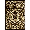 Safavieh Indoor/ Outdoor Seaview Chocolate/ Natural Rug (6'7 x 9'6)