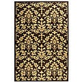 Indoor/ Outdoor Seaview Chocolate/ Natural Rug (6'7 x 9'6)