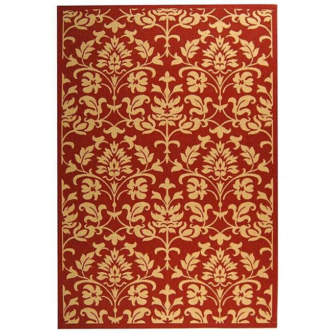 Safavieh Indoor/ Outdoor Seaview Red/ Natural Rug (6'7 x 9'6)