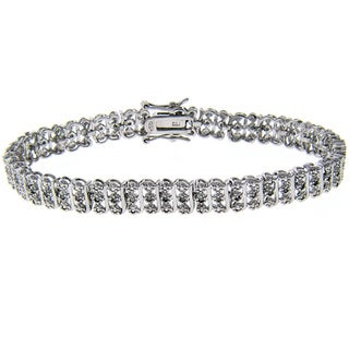 Finesque Sterling Silver 1/2ct TDW Diamond Tennis Bracelet (J-K, I3)