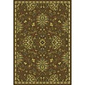 Del Mar Green/ Brown Rug (3'10 x 5'5)