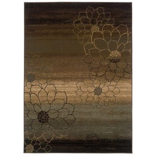 Machine-made Ivory/ Gold Polypropylene Rug (5'3 x 7'6)