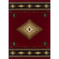 Red/ Black Rug (5'3 x 7'6)