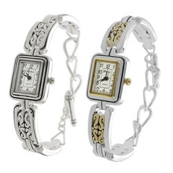 Geneva Women's Concho-style Toggle Watch