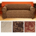 Catherine Round-arm Jacquard Sofa Slipcover