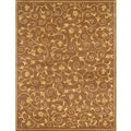 Hand-tufted Cazanova Vines Brown Wool Rug (5' x 8')