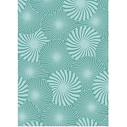 Alliyah Handmade Aqua Bursts New Zealand Blend Wool Rug (5' x 8')