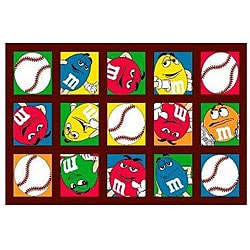 M&M's Baseball Party Rug (3'3 x 4'10)