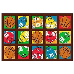 M&M's Basketball Party Rug (3'3 x 4'10)