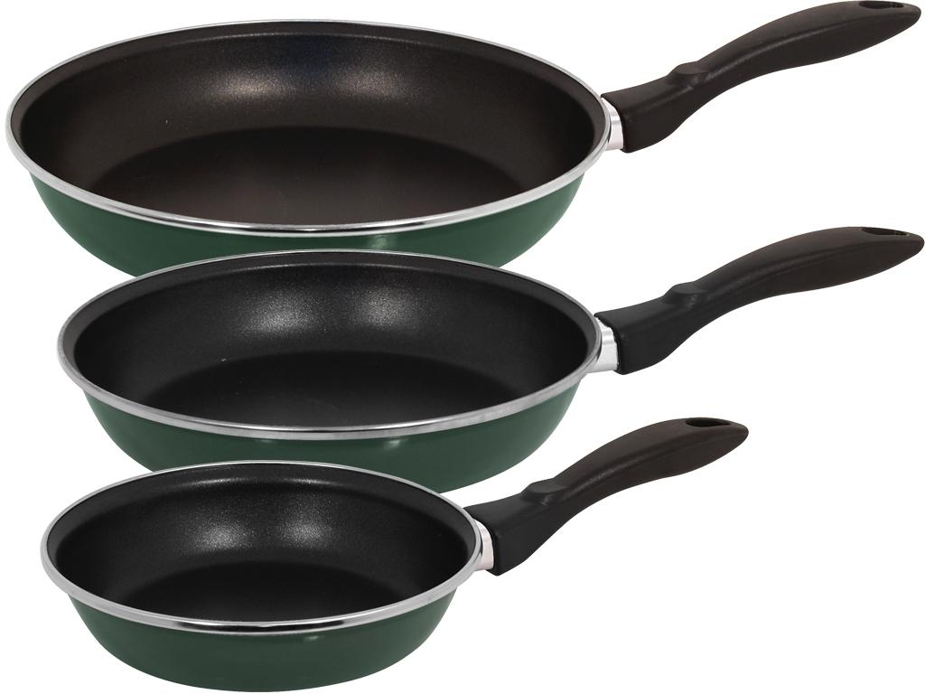 Magefesa Provence Green Gloss 3-piece Frying Pan Set