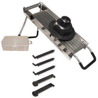 Stainless Steel Mandoline Vegetable Slicer with Five Interchangeable Blades