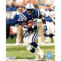 Indianapolis Colts  Edgerrin James Run in Blue Jersey 8x10 Autographed Photo