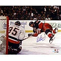 Eric Lindros Diving Shot vs. Islanders 8x10 Autographed Photo