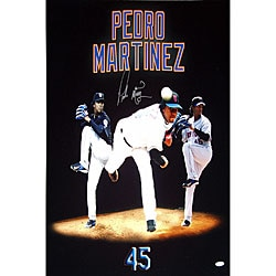 New York Mets Pedro Martinez Three Photo Merge 20x24 Photograph