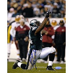 Philadelphia Eagles Jeremiah Trotter Celebration 8 x 10 Signed Photo