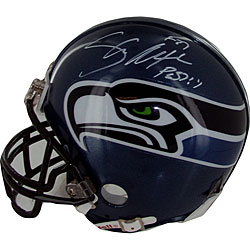 Shaun Alexander Autographed Seahawks Replica Mini Helmet