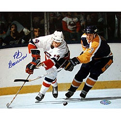 Bob Bourne Autographed Vs. Kings 8x10 Photograph