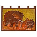 Batik Cotton 'Elephant Child' Wall Hanging (Ghana)