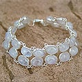 Sterling Silver 'Enchanted Mystery' Moonstone Bracelet (India)