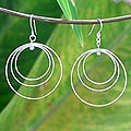 Sterling Silver 'Inner Circle' Earrings (Thailand)