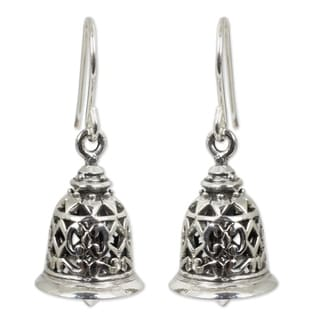 Sterling Silver 'Temple Bell' Earrings (Thailand)