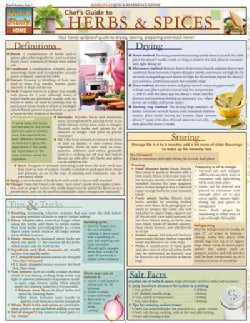 Chef's Guide to Herbs & Spices Quick Study Reference Guide (Cards)