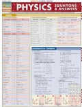 Physics Equations & Answers Quick Study Reference Guide (Cards)