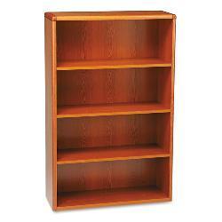 HON 10700 Series 4-Shelf Wood Bookcase - Cherry