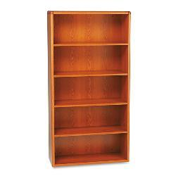 HON 10700 Series 5-Shelf Wood Bookcase - Cherry