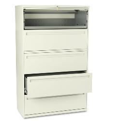 HON 700 Series 42-Inch Five-Shelf Lateral File Cabinet in Putty