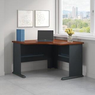 Bush Business Series A 48W Corner Desk in Hansen Cherry and Galaxy