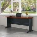 Bush Series A 72-inch Office Desk in Hansen Cherry