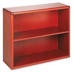 HON 10700 Series 2-Shelf Wood Bookcase - Cherry