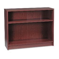 HON 1870 Series 2-shelf Mahogany Laminate Bookcase