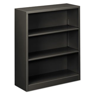 HON 3-shelf Metal Charcoal Bookcase