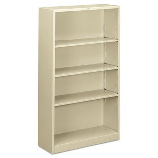 HON 4-shelf Putty Metal Bookcase