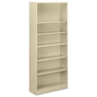 HON 6-shelf Metal Putty Bookcase