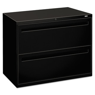 HON 700 Series Black 2-drawer Lateral File Cabinet