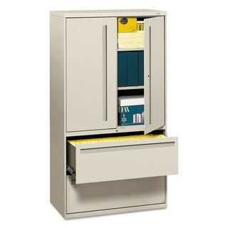 HON 700 Series 36-Inch Wide 2-Drawer Light Gray Lateral File Cabinet