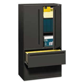 HON 700 Series Charcoal 36-inch 2-drawer Lateral File Cabinet