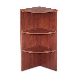 Alera Valencia Series Corner Bookcase - Medium Cherry