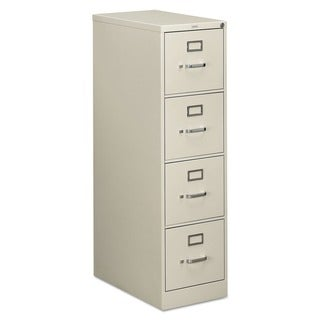 HON 510 Series 4-Drawer, Full-Suspension File, Letter, Light Gray