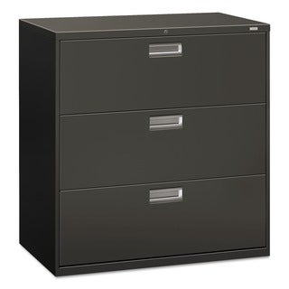 HON 600 Series 3-drawer Charcoal Lateral File