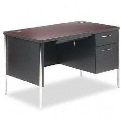 HON 34000 Series 48-inch Right Pedestal Steel Desk