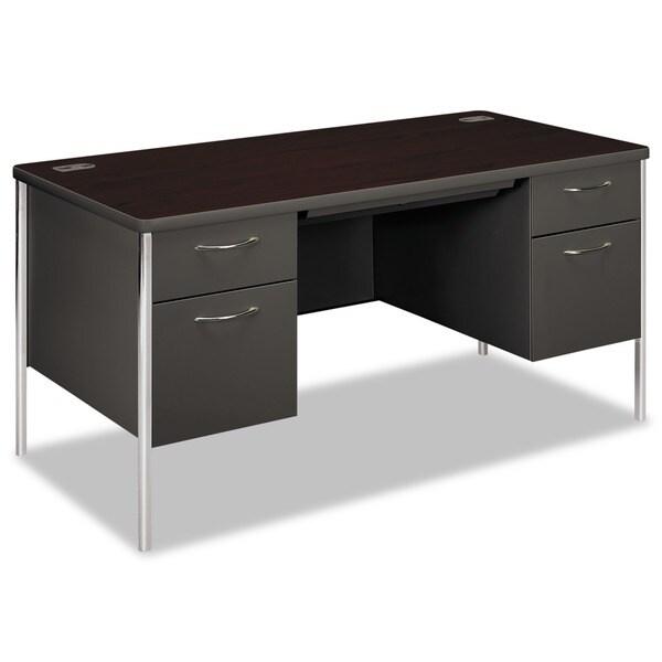 Hon Mentor Series 60 Inch Double Pedestal Desk 12048981