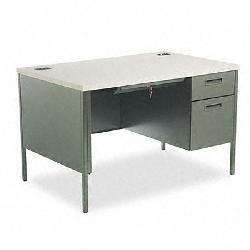 HON Metro Classic Series Hand-Painted 48-Inch Right Pedestal Desk